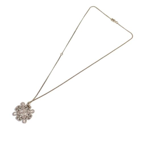 Chanel CC Snowflake Necklace