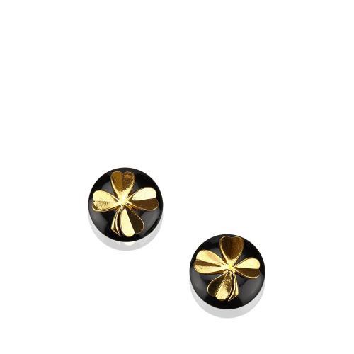 Chanel Clover Clip On Earrings