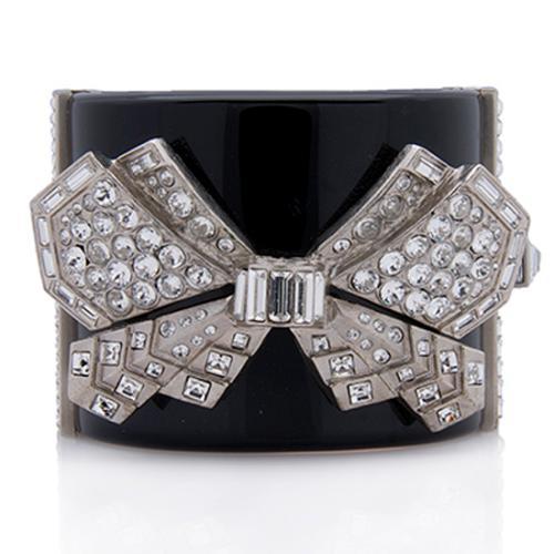Chanel Crystal Bow Bangle