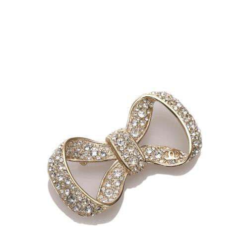 Chanel Crystal Bow Brooch