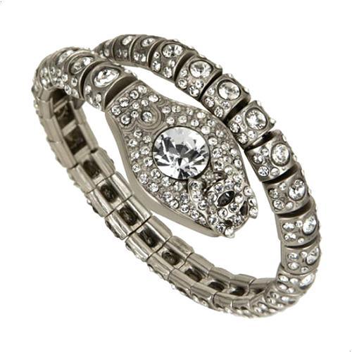Chanel Crystal Coil Snake Bracelet