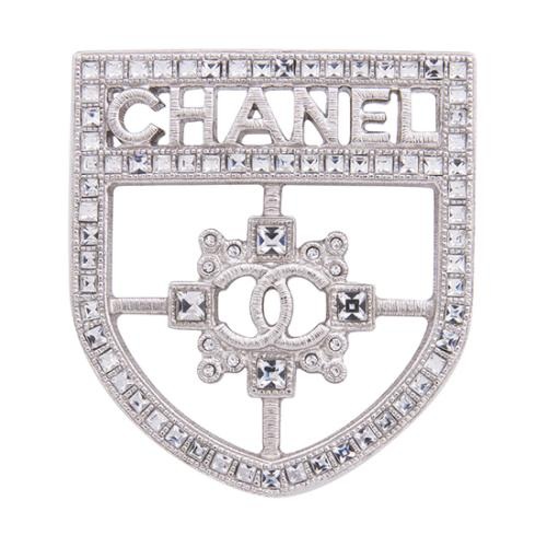 Chanel Crystal Shield Brooch