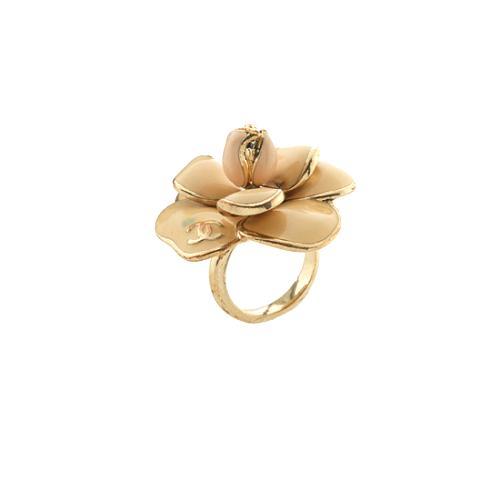 Chanel Enamel Camellia Ring - Size 7 - FINAL SALE