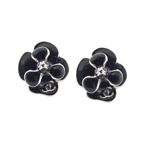 Chanel Flower Camellia Earrings