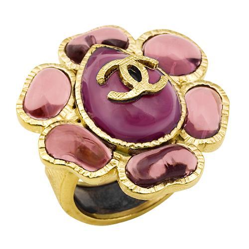 Chanel Flower Logo Ring