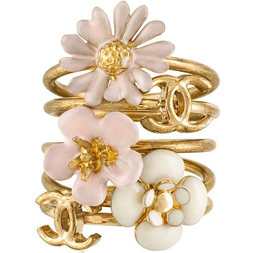 Chanel Flower Stackable Rings