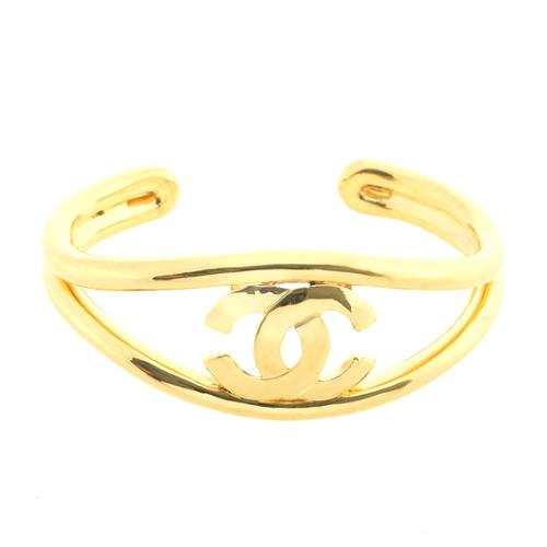 Chanel Gold CC Cuff