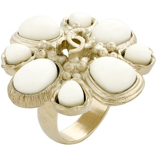 Chanel Ivory CC Ring