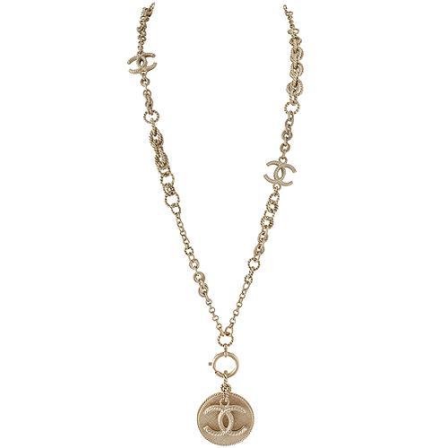 Chanel Large CC Medallion Necklace