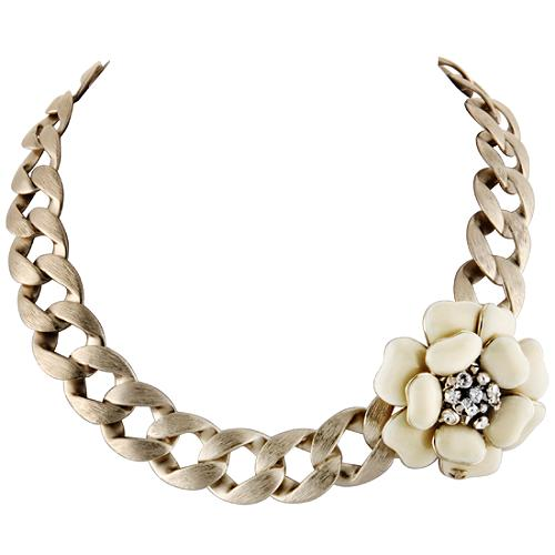 Chanel Large Flower Necklace