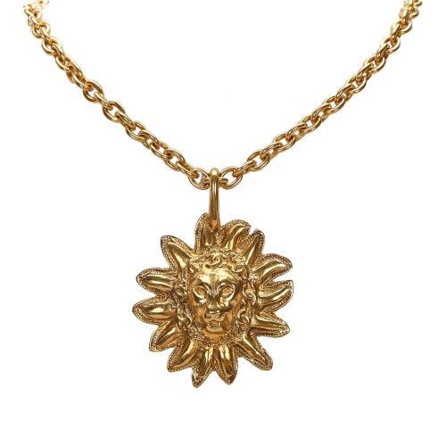 Chanel Leo Lion Sun Medallion Necklace