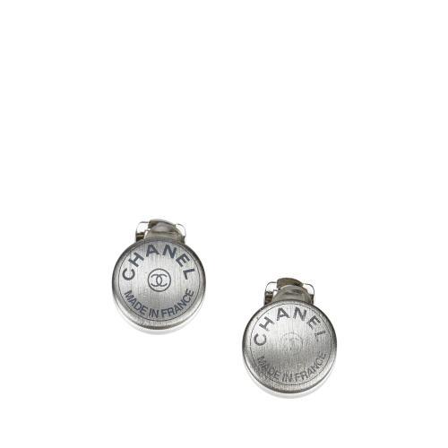 Chanel Logo Clip On Earrings