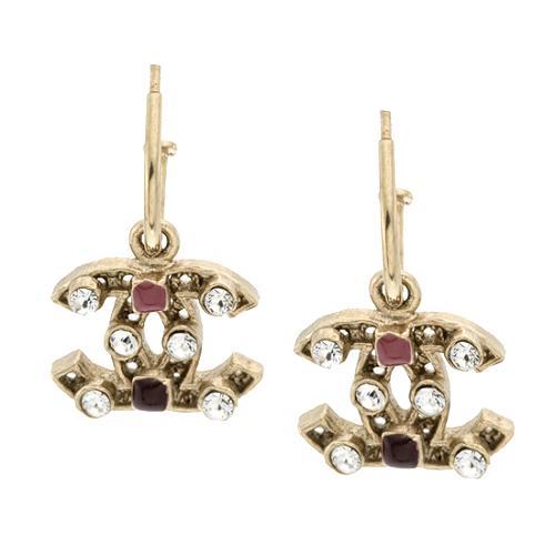 Chanel Multi Stone Signature Earrings