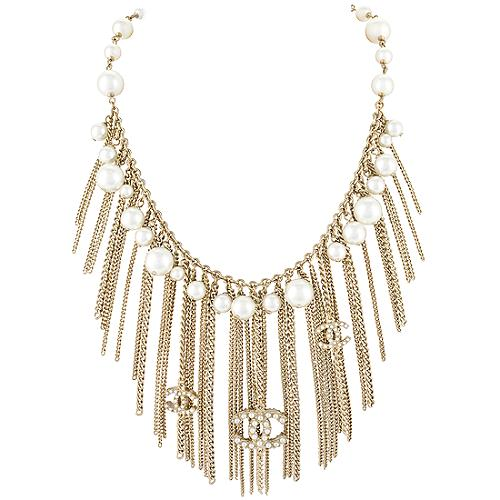 Chanel Pearl Fringe Necklace