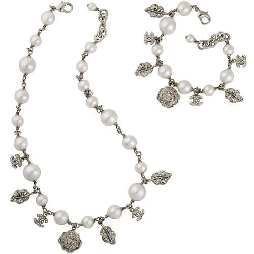 Chanel Pearl Necklace and Bracelet Set - FINAL SALE