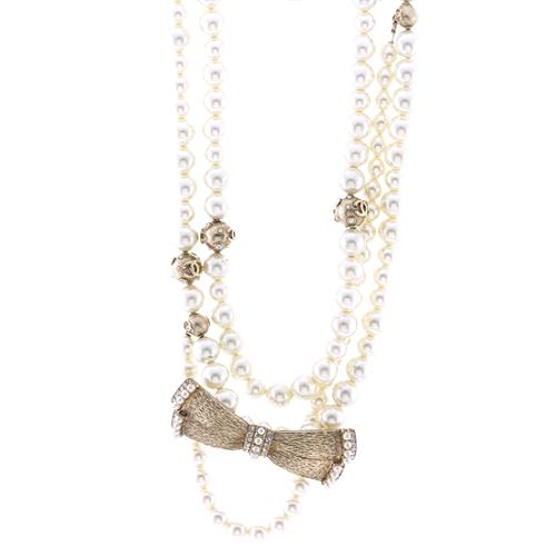 Chanel Pearl and Bow Long Necklace - FINAL SALE