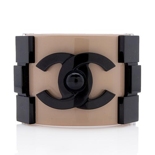 Chanel Resin Boy Brick Cuff Bracelet