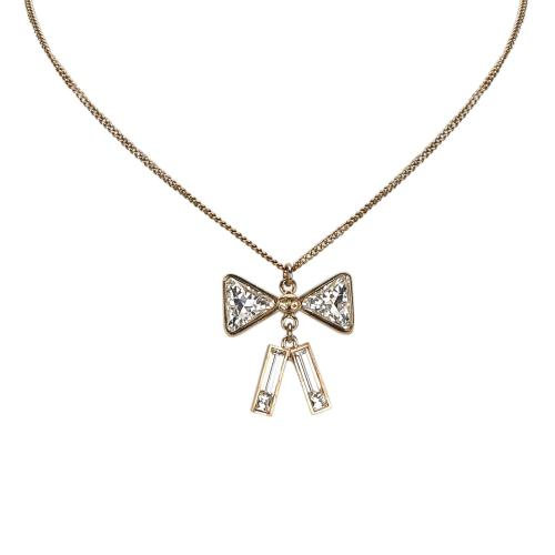 Chanel Crystal Ribbon Necklace