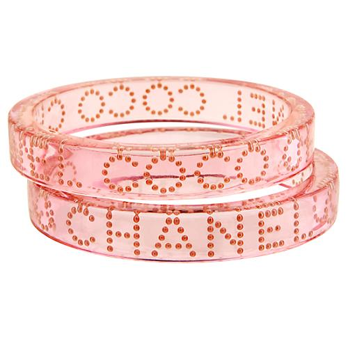 Chanel Set of 2 Coco Chanel Bracelets