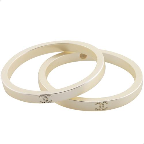 Chanel Set of Two Lucite Pearl Bangles