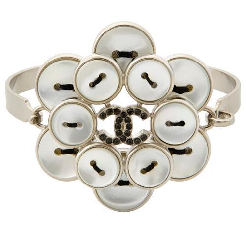 Chanel Shell Button Cuff