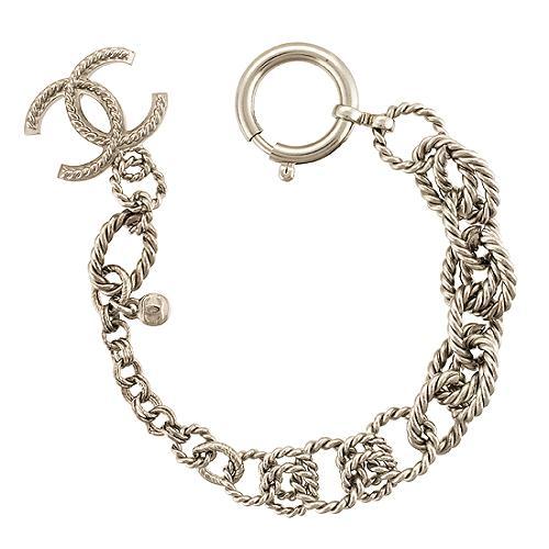 Chanel Silver Logo Bracelet