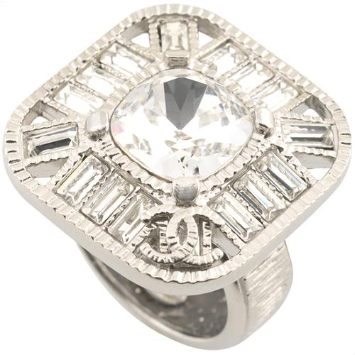 Chanel Square Crystal Ring