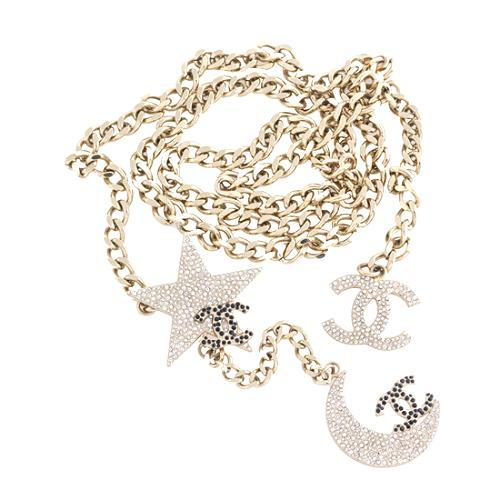 Chanel Strass Moon & Stars Chain Belt