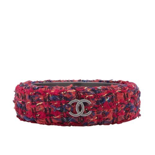 Chanel Tweed CC Bangle Bracelet