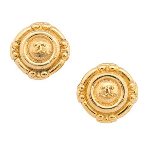 Chanel Vintage CC Clip Earrings
