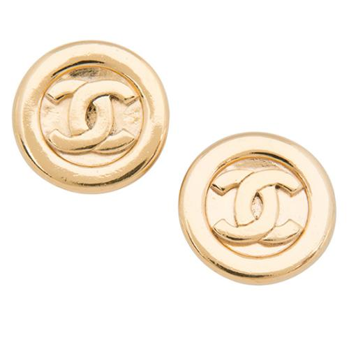Chanel Vintage CC Clip On Earrings