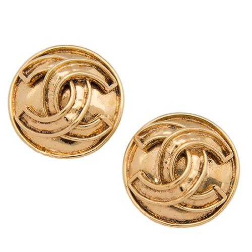 Chanel Vintage CC Earrings