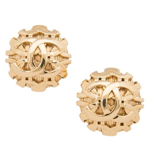 Chanel Vintage CC Large Clip-On Earrings