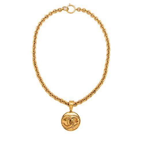 Chanel Vintage CC Medallion Pendant Necklace