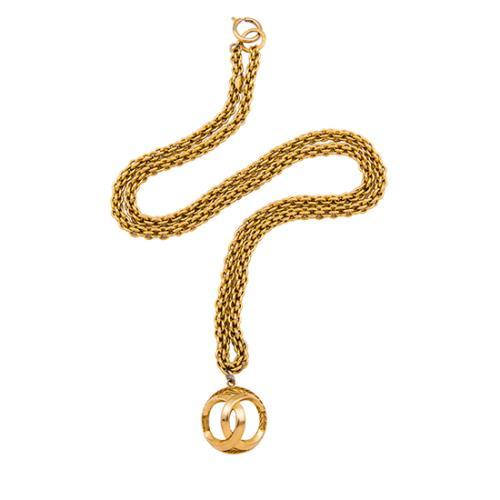 Chanel Vintage Cage CC Logo Necklace - FINAL SALE