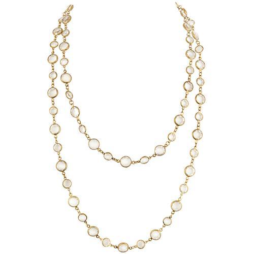 Chanel Vintage Clear Sautoir Necklace