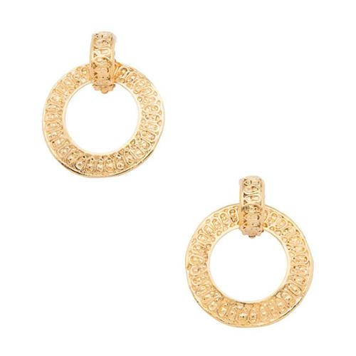 Chanel Vintage Convertible Circle Drop Clip On Earrings