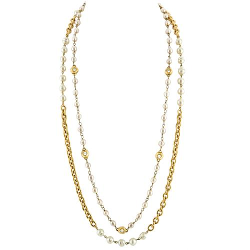 Chanel Vintage Pearl Layering Necklaces