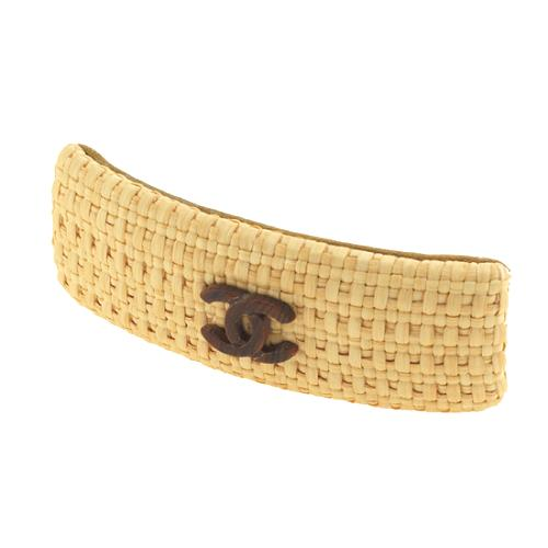 Chanel Woven Straw Hair Clip