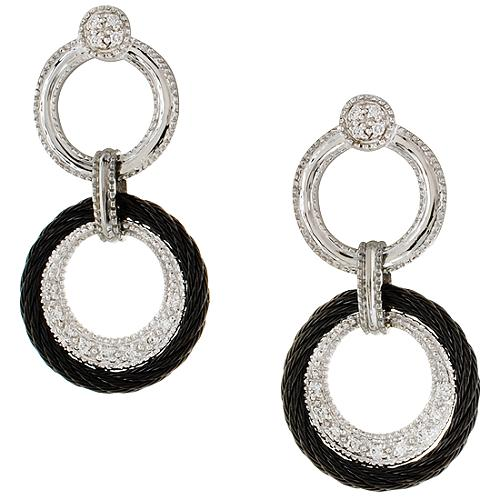 Charriol Celtic Noir Linque Earrings
