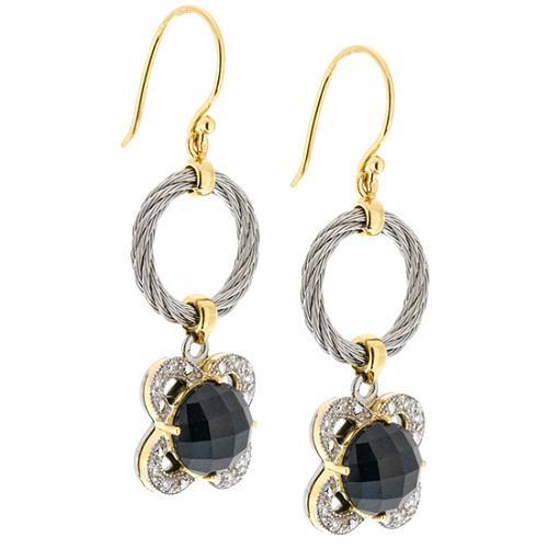 Charriol Facet Black Onyx Earrings