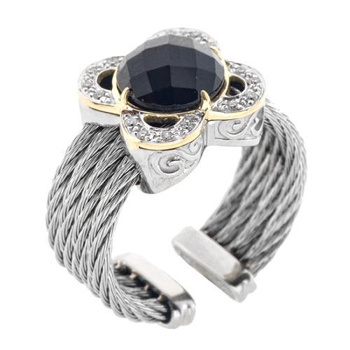 Charriol Facet Black Onyx Ring