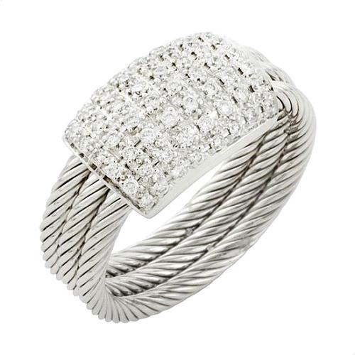 Charriol Flamme Blanche Cable Diamond Ring