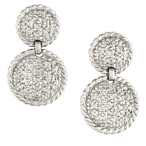 Charriol Flamme Blanche Cable Earrings