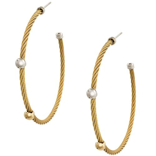 Charriol Large Cable Hoop Earrings