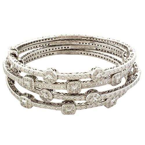 Charriol Stackable Diamond Bangle Bracelets