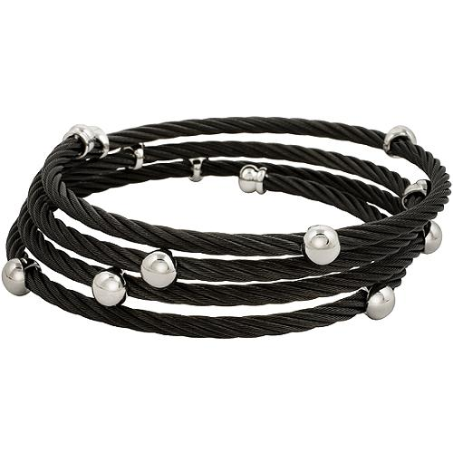 Charriol Stainless Steel Ball Cable Wrap Bracelet