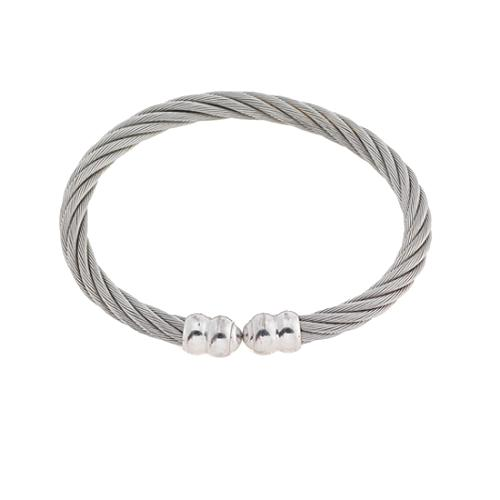Charriol Stainless Steel Double Godrons Bangle