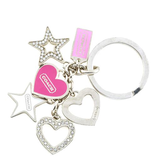 Coach Hearts Key Ring