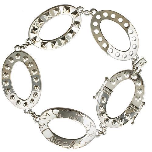 Coach Multi Texture Oval Bracelet